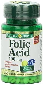 Nature's Bounty Folic Acid, 400mcg, 250 Tablets