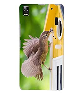 ColourCraft Lovely Bird Design Back Case Cover for LENOVO K3 NOTE