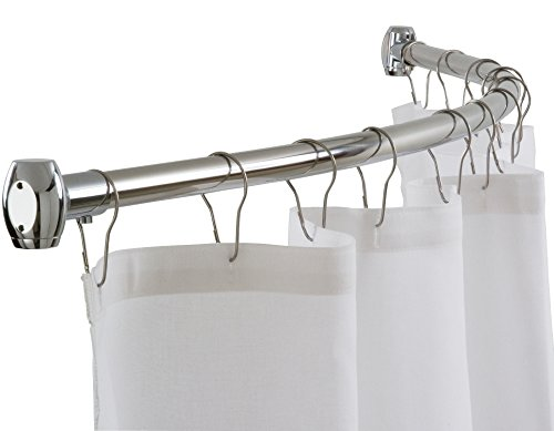 Curved Shower Curtain Rod By Streamline Rust Proof Mount Kit Included 54 72 Adjustable
