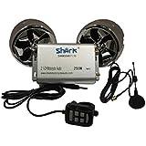 Amazon.com : Sharkmotorcycleaudio Shkcycleradiokit250 250