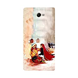 Skintice Designer Back Cover with direct 3D sublimation printing for Sony Xperia M2 Dual
