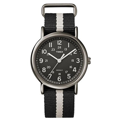 Timex Weekender Full Size Analog Watch-Black/Silver
