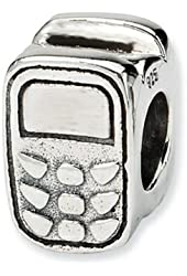 Reflections Sterling Silver Cell Phone Bead / Charm