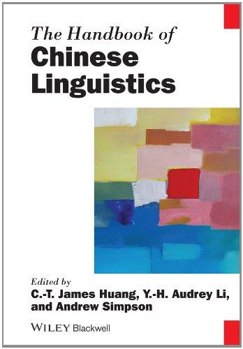 The Handbook Of Chinese Linguistics (Blackwell Handbooks In Linguistics)
