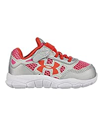 Under Armour Kids Baby Girl\'s UA Engage BL (Infant/Toddler) Metallic Silver/White/Fire Sneaker 7 Toddler M