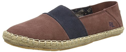 Pepe JeansTOURIST SLIP ON MIX - Espadrillas Uomo , Marrone (Braun (480GRAPE)), 41