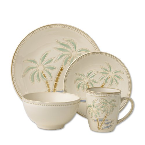 Pfaltzgraff Everyday Palm 16-Piece Dinnerware Set Service for 4