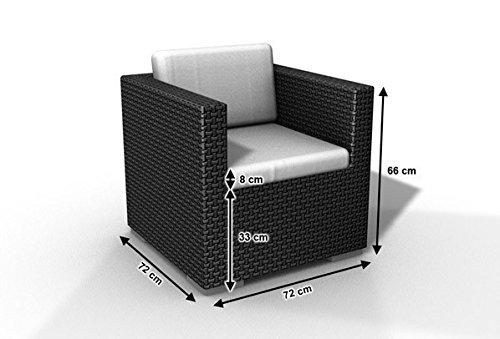 Gartenmöbel Rattan Sessel Espace günstig Sessel Polyrattan dunkelbraun, inkl Kissen online kaufen