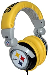 iHip NFH22PS NFL Pittsburgh Steelers DJ Style Headphones, Black/Yellow (Discontinued by Manufacturer)