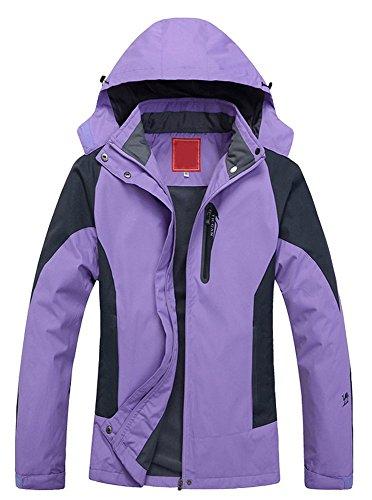 Cloudy Women's Spring Waterproof Front-Zip Hooded Rain Jacket (medium) (Zip Liner Womans Rain Coat compare prices)