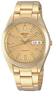 Seiko Men's SNX998K Gold Stainless-Steel Automatic Watch with Gold Dial