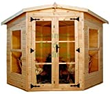 Summer Garden Buildings Corner Summerhouse 185 - 15mm T&G Throughout - 7' x 7' Delivered Only