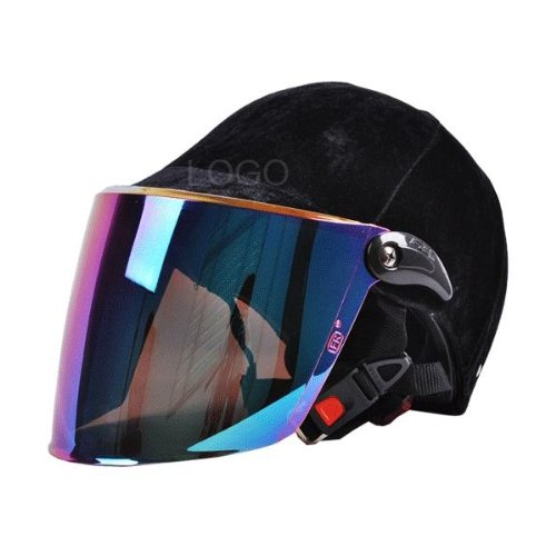 Enjoydeal Fashion Unisex All Seasons Colorful Visor Electric Bicycle/Motorbike Helmet Black