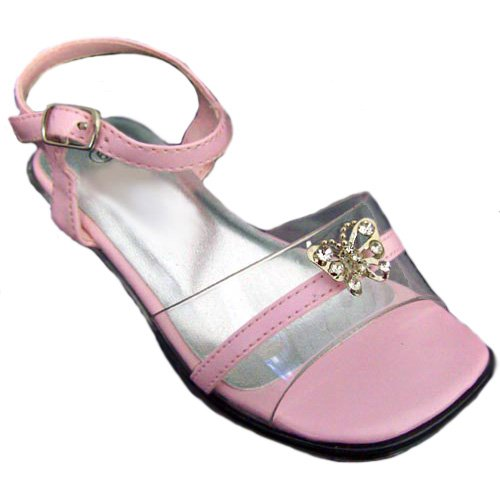 Size: 5 - Toddler Flowergirl Dress Shoes Sandals With Butterfly (Baby Toddler Size 5 To 10)