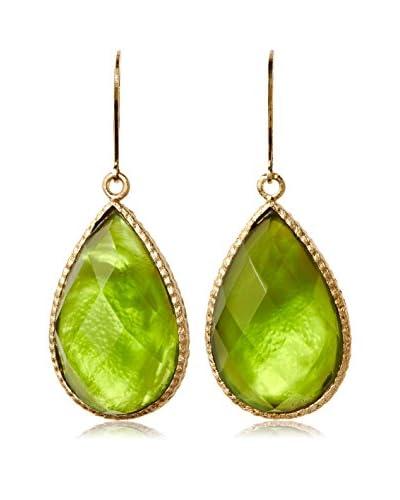Rivka Friedman 18K Gold Clad Doublet Buttercup Crystal Teardrop Earrings