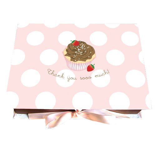 Dolce Boxed Thank You Note Cards - Cupcake |