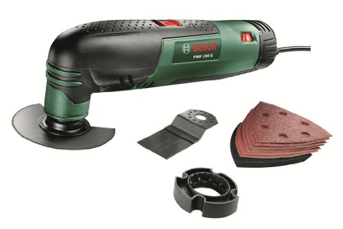 41zTkg%2BnpsL - BEST BUY #1 Bosch PMF 190 E Multifunction Tool with Cutting Discs, Saw Blades and Sander Sheets