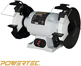 POWERTEC BGSS800 Slow Speed Bench Grinder, 8-Inch