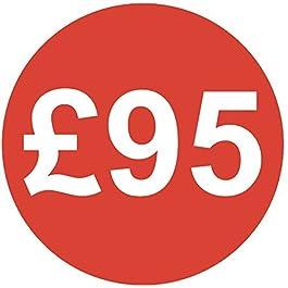 Audioprint Lot. 40Lot de Prix £95autocollants 30mm rouge