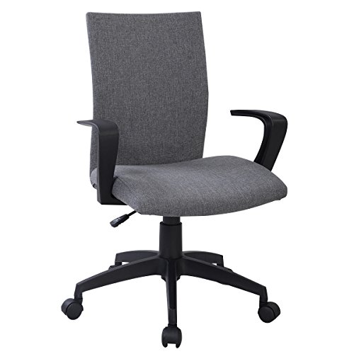 HPD New Gray Ergonomic Desk Task Office Chair Midback Executive Computer Chair (Vintage Chair For Desk compare prices)