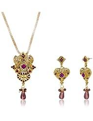 Sia Art Jewellery Gold Plated Jewellery Set For Women (AZ2756) (Golden)