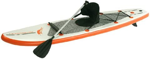 Blueborn Pathfinder Z-Ray SUP - Stand-Up Sit-on-Top Paddle-Board Set mit Sitz, Paddel, Pumpe im Packsack