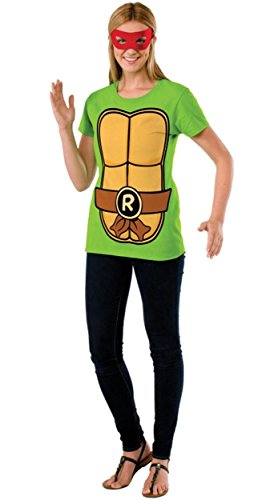 Raphael Teenage Mutant Ninja Turtles Ladies Costume T-shirt & Mask