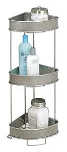 mdesign bathroom free standing corner shelving. Black Bedroom Furniture Sets. Home Design Ideas