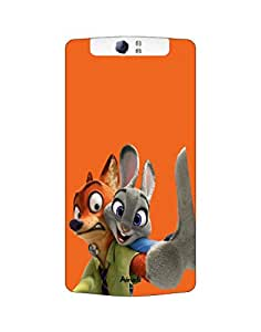 AANADI - Hard Back Case Cover for Oppo N1 - Superior Matte Finish - HD Printed Cases and Covers