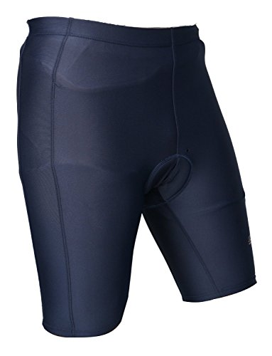 Buy Discount Lycot Cycling Padded Cycling Half Tights Biking Bicycle Tights Navy Blue