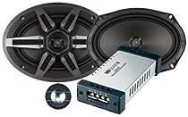 MB Quart Premium PVI269 6-Inch x 9-Inch 2-Way Component/Convertible Coaxial Speakers