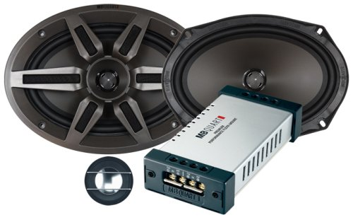 "Mb Quart Premium Pvi269 6 X 9"" 2-Way Component/Convertible Coaxial Speakers"