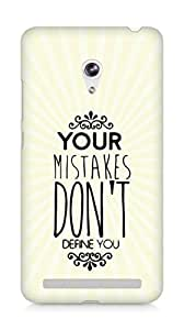 AMEZ your mistakes dont define you Back Cover For Asus Zenfone 6