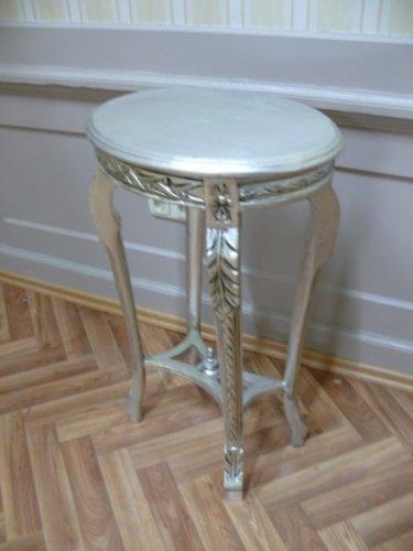 Mesa de centro de plata Oval estilo envejecido barroco AlTa0334SiOvS