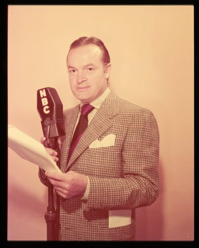 Bob Hope Rare Original 5X4 Transparency By Vintage Nbc Microphone Circa 1950