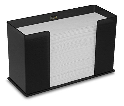 TrippNT 52914 Counter Top Black Acrylic Fold/Multifold Paper Towel Dispenser, 11 1/4 x 6 5/8 x 4 5/8 inches WHD (Countertop Paper Dispenser compare prices)