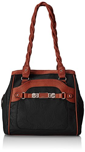 rosetti-twist-it-up-double-handle-two-tone-shoulder-bag-black-one-size