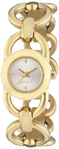 Esprit  ES106802002 - Reloj de cuarzo para mujer, con correa de acero inoxidable chapado, color dorado