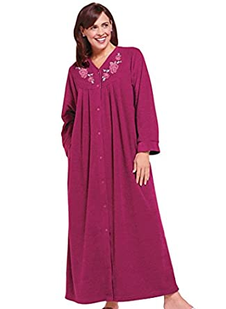 Snap-Front Long Boucle Robe at Amazon Women's Clothing store