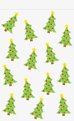 Christmas Tree - Christmas Zipper Cello Treat Bags - 9in. x 5in. - 12/pack