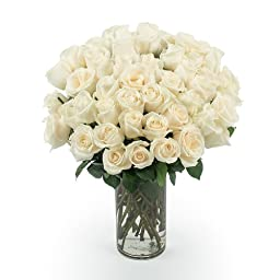 100 Farm Fresh White Roses By JustFreshRose
