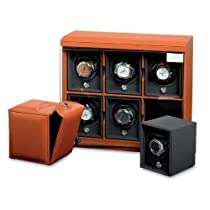 6-Module Leather Watch Winder by Underwood