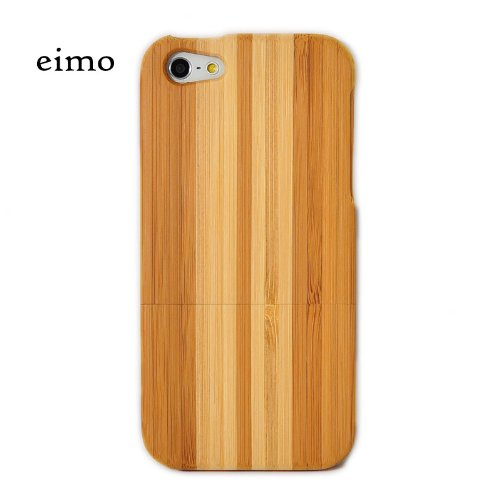 Natural Handmade hard wood Bamboo Case Cover for iphone 5 with free screen protector(stripe)
