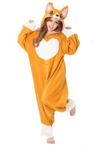 "Corgi Kigurumi - Adult ""Corgi Dog"" Fancy Dress Costume"
