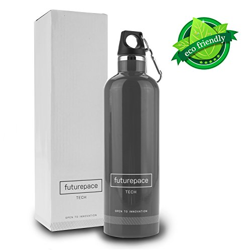 Best Stainless Steel, Insulated Water Bottle - Bpa Free Sports Bottle For Office, Gym, Hiking, Outdoors - Free Stylish Gift Box - 20Oz / 600Ml - Eco Friendly, Metal, Canteen / Drinking Bottle - Suit Adults Or Kids