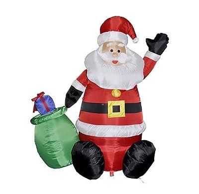 Aufblasbarer Weihnachtsmann Mit Licht Integriertem Luftkompressor 12m bei aufblasbar.de