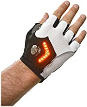 Zackees LED Turn Signal Gloves for Cycling with Spare Rechargeable Batteries + Charger