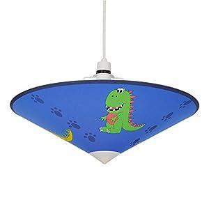 Cool Blue Dinosaur Children's Bedroom Ceiling Pendant Light Shade Uplighter