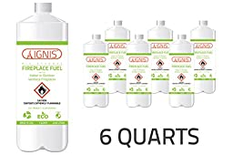 Ignis Bio Ethanol Fireplace Fuel - 6 Pack