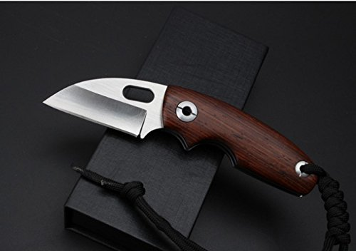 (Toucan) Cocobolo Wood D2 Stainless Steel Pocket Folding Knife, Limited Edition, Best Choice for Survival, Camping, Craft, Gardening or Outdoor